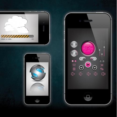 Application menu design