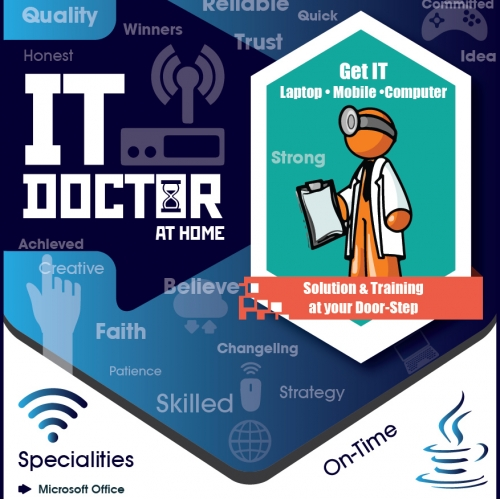 IT DOCTOR at Home A5 Flyer