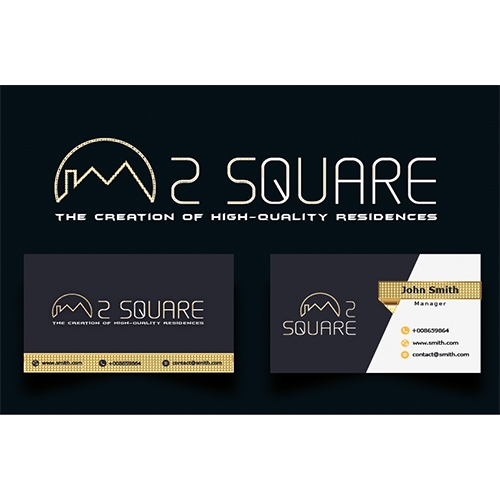 Logo design and business card for real estate agencies