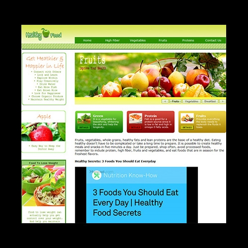 Healthy Food Website