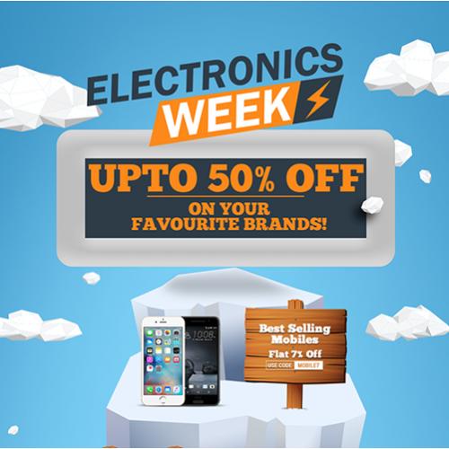 Electronics Week - Landing page design